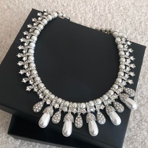 Pearl Like Statement Necklace